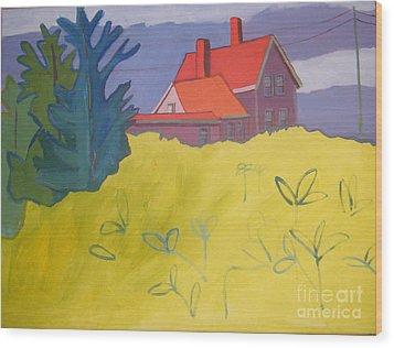 Monhegan Light Wood Print by Debra Bretton Robinson