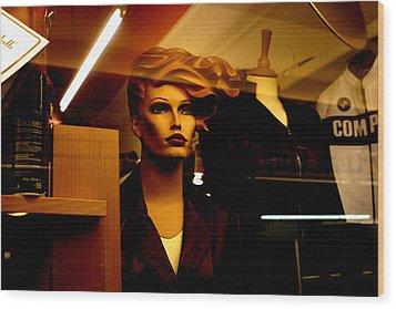 Monique Blown Wood Print by Jez C Self