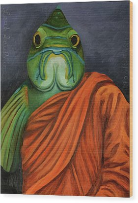 Monk Fish Wood Print by Leah Saulnier The Painting Maniac