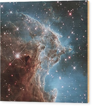 Wood Print featuring the photograph Monkey Head Nebula by Marco Oliveira