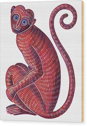 Monkey Wood Print by Jane Tattersfield