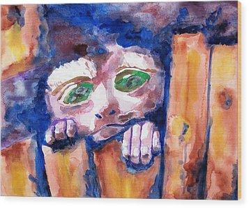 Monkey See Wood Print