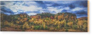 Monkton Ridge, Vt Wood Print by Rena Trepanier