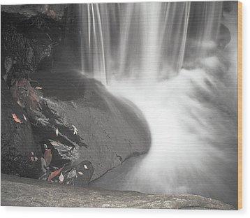 Monochrome Falls Wood Print by Jim DeLillo