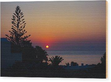 Monolithos Sunrise 2 Wood Print by Matti Ollikainen