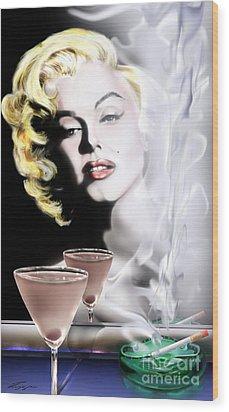 Monroe-seeing Beyond Smoke-n-mirrors Wood Print by Reggie Duffie