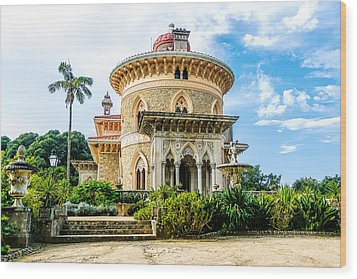 Wood Print featuring the photograph Monserrate Palace by Marion McCristall