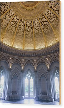 Wood Print featuring the photograph Monserrate Palace Room by Carlos Caetano