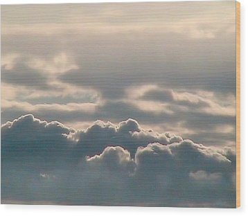Monsoon Clouds Wood Print