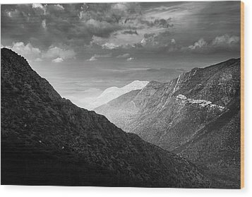 Wood Print featuring the photograph Monsoon Clouds Over Storm Canyon by Alexander Kunz