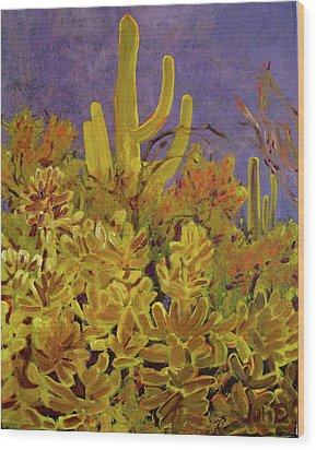 Monsoon Glow Wood Print by Julie Todd-Cundiff