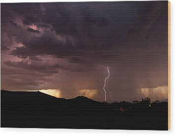 Monsoon Storm Wood Print