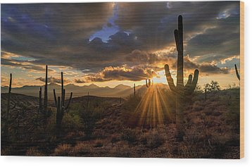 Wood Print featuring the photograph Monsoon Sunburst by Anthony Citro
