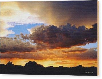 Monsoon Sunset Wood Print by David Coyle