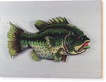Monster Bass Wood Print by Bob Crawford