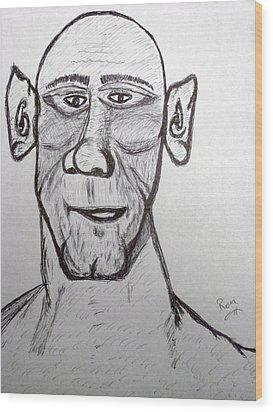 Monster Tom And His Radar Ears Wood Print by Robert Margetts