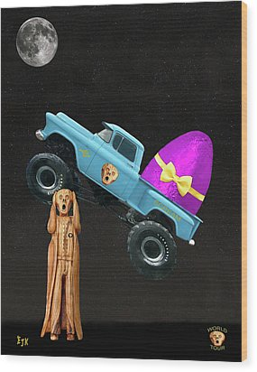 Monster Truck Wood Print by Eric Kempson