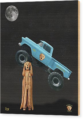Monster Truck The Scream World Tour  Wood Print by Eric Kempson