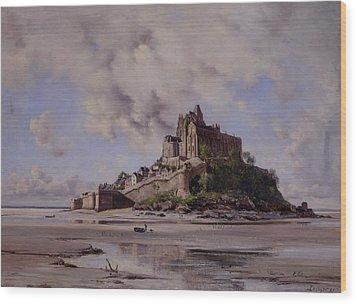 Mont Saint Michel Wood Print by Emmanuel Lansyer