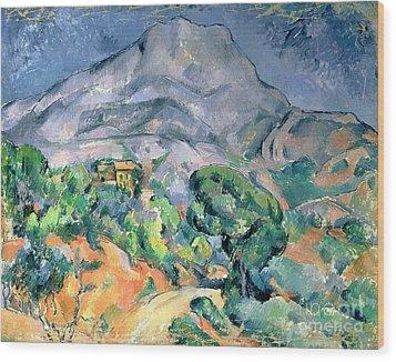 Mont Sainte Victoire Wood Print by Paul Cezanne