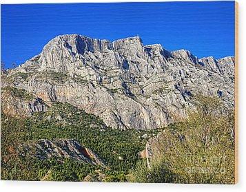 Montagne Sainte Victoire Wood Print by Olivier Le Queinec