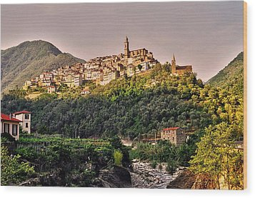 Montalto Ligure - Italy Wood Print by Juergen Weiss