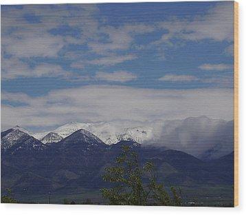 Montana June Wood Print by Yvette Pichette