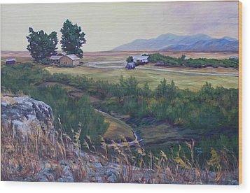 Montana Prairie Wood Print