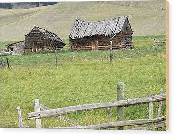 Montana Ranch Wood Print by Marty Koch