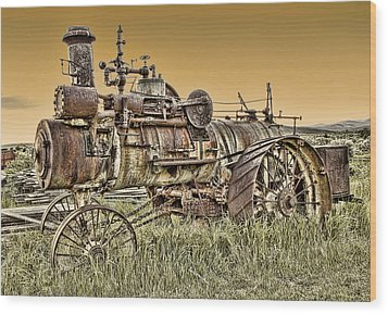 Montana Steam Punk - Nevada City Ghost Town Wood Print by Daniel Hagerman