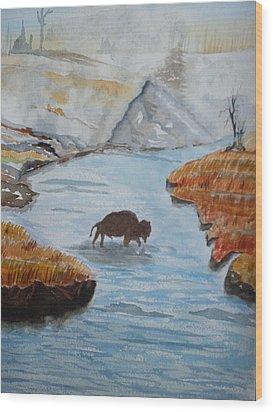 Montana Wildlife Wood Print by Warren Thompson