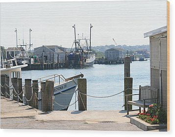 Montauk Harbor  Wood Print by Christopher Kirby