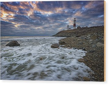 Montauk Morning Wood Print