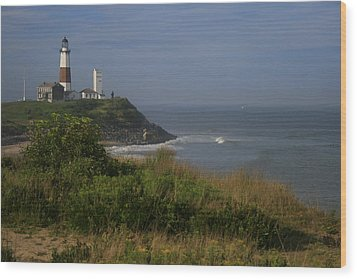 Montauk Point Wood Print by Christopher Kirby