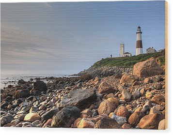 Montauk Point Lighthouse Wood Print by Steve Gravano