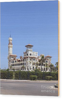 Montaza Palace In Alexandria, Egypt. Wood Print by Mohamed Elkhamisy