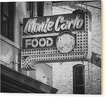Monte Carlo Food Wood Print by Perry Webster
