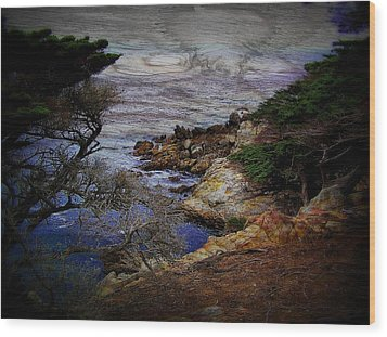 Monterey Coast Wood Print by Jen White