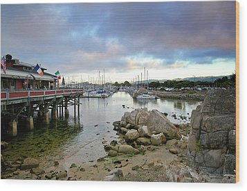 Monterey Harbor - Old Fishermans Wharf - California Wood Print by Brendan Reals