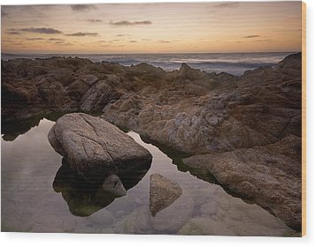 Monterey Sunset Wood Print by Mike Irwin