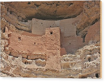 Montezuma Castle - Special In It's Own Way Wood Print by Christine Till