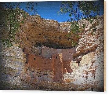 Montezuma Castle In Arizona Wood Print by Jen White