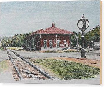 Montezuma Train Depot Wood Print