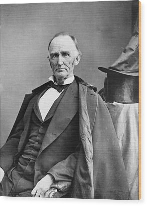 Montgomery Blair 1813-1883 Was Among Wood Print by Everett