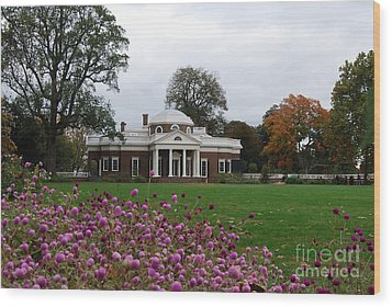 Wood Print featuring the photograph Monticello by Eric Liller
