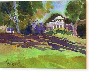 Monticello In October Wood Print by Lee Klingenberg