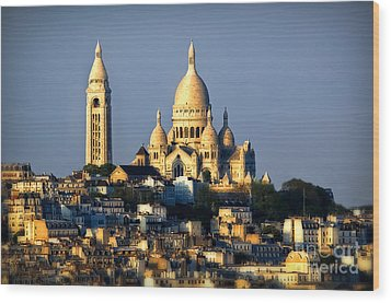 Montmartre Wood Print by Alessandro Giorgi Art Photography
