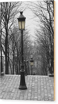 Montmartre Wood Print by Diana Haronis