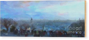 Montmartre From The Butte Wood Print