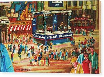 Montreal Jazz Festival Wood Print by Carole Spandau